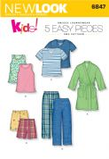 6847 New Look Pattern: Child's Sleepwear